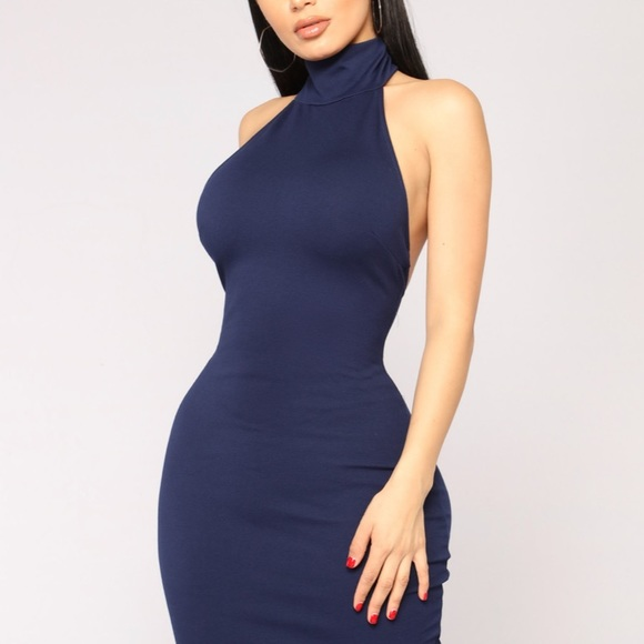 Fashion Nova Kassie High Neck Dress